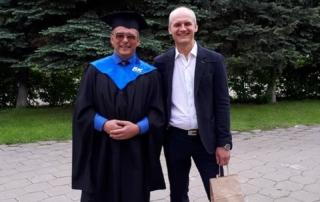 Выпускник БК из Щелково с пастором Алексеем Луневым