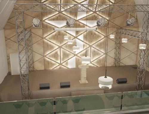 Дизайн второго этажа здания церкви*